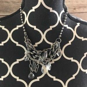 Free People • Silver crystal necklace